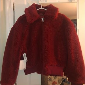 Wilfred Cropped Teddy Jacket